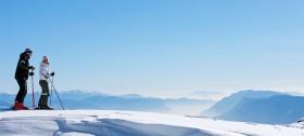 Skifahren im Skigebiet Meran 2000 mit traumhafter Aussicht