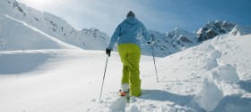Schneeschuhwandern im Skigebiet Meran 2000
