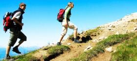 """Das """"schnelle Gehen mit Stöcken"""" ist eine tolle Art, seinen Körper fit zu halten"""